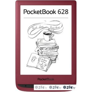Электронная книга PocketBook 628 (красный)