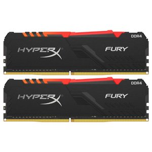 Оперативная память HyperX Fury RGB 2x8GB DDR4 PC4-24000 HX430C15FB3AK2/16